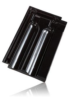 Wienerberger Marsylka užkaitinė čerpė, juoda angoba blizgi / Kunice